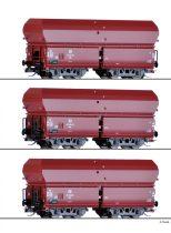 Tillig 1790 Önürítős négytengelyes teherkocsi-készlet, 3-részes OOt 47, Braunkohlezug 3,
