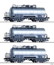 Tillig 1793 Tartálykocsi-készlet, 3-részes ZZ 52 fékállással, VEB Teerverarbeitung Rositz