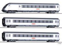 Tillig 1802 Személykocsi készlet vezérlőkocsival, 3-részes Metropolitan, DB-AG (E5) (TT)