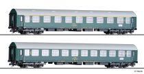 Tillig 1803 Személykocsi-pár, 2 db Y/B 70 Y-sorozatú négytengelyes személykocsi, CSD, Vind