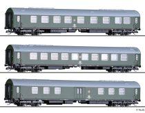 Tillig 1808 Személykocsi-készlet, 3-részes Salonwagenzug 3, DR (E4) (TT)