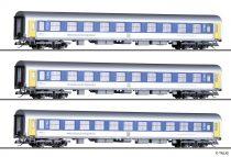 Tillig 1809 Személykocsi-készlet, 3-részes Mitteldeutsche Regiobahn (E6) (TT)