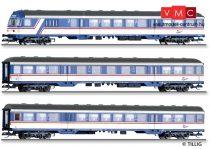Tillig 1811 Személykocsi-készlet vezérlőkocsival, 3-részes TRI Train Rental International