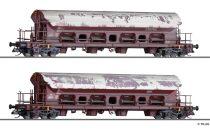 Tillig 1819 Billenthető tetejű négytengelyes teherkocsi-pár, Tads-z 958, DB-AG (E6) (TT) -