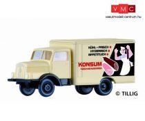 Tillig 19005 IFA H3A dobozos teherautó, KONSUM (TT)