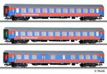 Tillig 501023 Személykocsi készlet, négytengelyes 3-részes, DB-AG, Bahn Touristik Express (