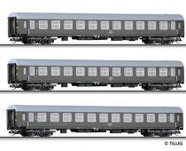 Tillig 501024 Személykocsi készlet, négytengelyes 3-részes, PKP (TT)