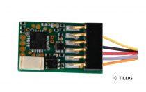 Tillig 66033 Mozdonydekóder, Uhlenbrock, 6 tűs vezetékes - NEM 651 (TT)
