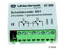 Tillig 66837 Kapcsolódekóder SD 1 - digitális azonos cím (Uhlenbrock)