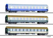 Tillig 70003 Személykocsi-készlet (3 részes), négytengelyes Y-sorozat, DR, 2. osztály (2x)