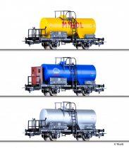 Tillig 70018 Tartálykocsi-készlet (3-részes), Minol/Buna, DR (E3) (H0)