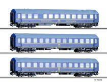 Tillig 70024 Személykocsi-készlet, 3-részes négytengelyes Y-sorozat, TOUREX, DR (E4) - 1 :1
