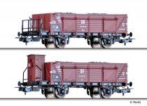 Tillig 70030 Nyitott teherkocsi-pár, Omu, egyik fékházzal, szén rakománnyal, DR (E3)
