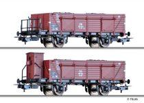 Tillig 70031 Nyitott teherkocsi-pár, Omu, egyik fékházzal, szén rakománnyal, DB (E3)