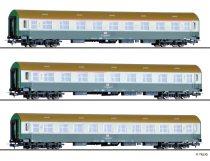 Tillig 70035 Személykocsi-készlet, 3-részes négytengelyes Y sorozat, DB AG (E5)