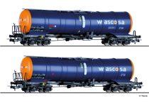Tillig 70040 Tartálykocsi-készlet, négytengelyes Zacns, WASCOSA AG (E6)