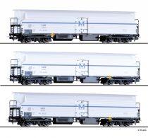 Tillig 70041 Hűtőkocsi-készlet, 3-részes négytengelyes FKM 4, BDZ (E3)
