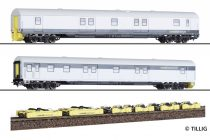 Tillig 70043 Poggyászkocsi-pár, négytengelyes Dmz / Loco-Buggy-Set, RailAdventure GmbH (E6)