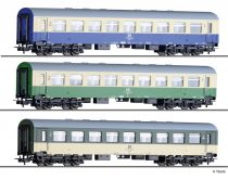 Tillig 70044 Személykocsi-készlet, 3-részes négytengelyes Reko, 2. osztály, kísérleti fe