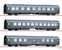 Tillig 70046 Személykocsi-készlet, 3-részes négytengelyes Salonwagenzug 3, DR (E4) (H0)