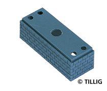 Tillig 7170 Hídpillér, 23,8 mm, szürke (TT)