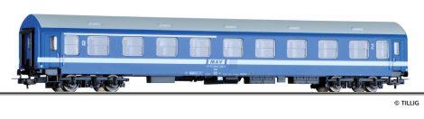 Tillig 74918 Személykocsi, négytengelyes 1/2. osztály ABa, Y sorozat, vékony csíkos, MÁV