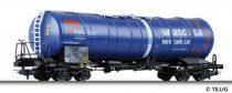 Tillig 76512 Tartálykocsi, négytengelyes Petro Plus, Wascosa AG