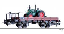 Tillig 76739 Alacsony oldalfalú teherkocsi fékállással, X05, DB, Lanz-Bulldog traktorral (E