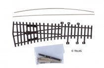 Tillig 82430 Balos váltó 15°, 185 mm (ex Pilz) - Építőkészlet (H0)