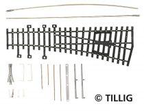 Tillig 82431 Jobbos váltó 15°, 185 mm (ex Pilz) - Építőkészlet