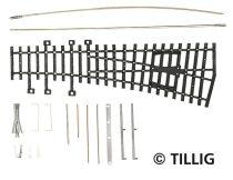 Tillig 82431 Jobbos váltó 15°, 185 mm (ex Pilz) - Építőkészlet (H0)