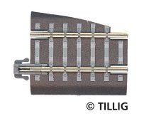 Tillig 83721 Ágyazatos sín, egyenes, G5, 36 mm, jobbos váltóhoz - vágott töltéssel (TT)
