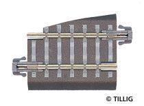 Tillig 83722 Ágyazatos sín, egyenes, G5 36 mm, balos váltóhoz - vágott töltéssel (TT)
