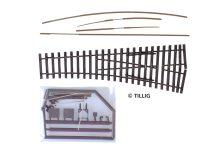 Tillig 85423 Jobbos váltó 15° EW2 - építőkészlet (H0)