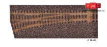 Tillig 86512 Sínágyazat balos EW1 váltóhoz, sötétbarna