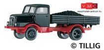 Tillig 8661 IFA H3A platós teherautó, szén rakománnyal (TT)