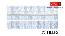 Tillig 87011 LUNA villamosvágány: Egyenes egyvágányos villamospálya kockakő útburkolatta