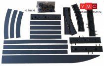 Tillig 87112 LUNA villamosvágány: Kitérővágány balos váltóval 4x105,7mm, aszfalt/beton