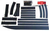 Tillig 87117 LUNA villamosvágány: Kitérővágány jobbos váltóval 4x105,7mm, aszfalt/beton