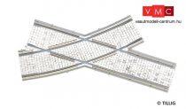 Tillig 87168 LUNA villamosvágány: íves jobbos keresztezés, R250/20°, kockakő útburkolatt