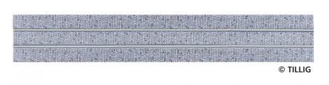 Tillig 87501 LUNA villamosvágány: Egyenes sín, 316,8mm, kockakő útburkolattal (H0)