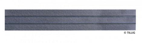 Tillig 87502 LUNA villamosvágány: Egyenes sín, 316,8mm, aszfalt/beton útburkolattal (H0)