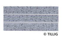 Tillig 87511 LUNA villamosvágány: Egyenes sín, 105,6mm, kockakő útburkolattal (H0)
