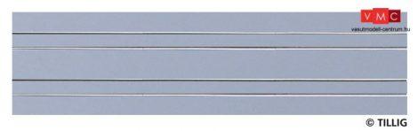 Tillig 87517 LUNA villamosvágány: Dupla egyenes sín, 316,8mm, aszfalt/beton útburkolattal (