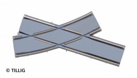 Tillig 87664 LUNA villamosvágány: íves balos keresztezés, R250/20°, aszfalt/beton útburko