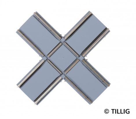 Tillig 87724 LUNA villamosvágány: Keresztezés 90°, aszfalt/beton útburkolattal (H0)