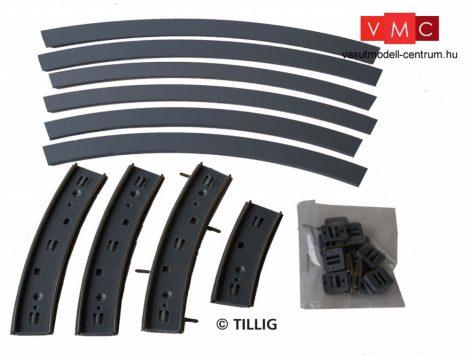 Tillig 87757 LUNA villamosvágány: Íves sín R250 90°, aszfalt/beton útburkolattal (H0)