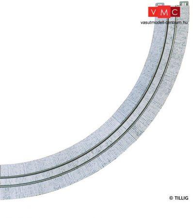 Tillig 87761 LUNA villamosvágány: Íves sín R204 90°, kockakő útburkolattal (H0)