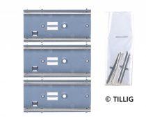 Tillig 87782 LUNA villamosvágány: Egyenes sín, G4 46,0 mm (3 db), útburkolat nélkül (H0)