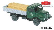 Tillig 8790 IFA H3A platós teherautó, farönk rakománnyal (TT)